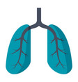 lungs medical icon vector image