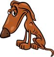 poor hungry dog cartoon vector image