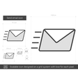 Send email line icon vector image