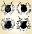 Vector shields laurel wreaths vector image