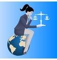 Work life balance business concept vector image