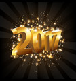 year 2017 vector image