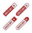 Set of stamps for adults only vector image