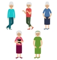 Grandmothers Elderly women vector image vector image