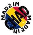 Made in Chad vector image vector image