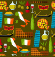 italy seamless pattern italian symbols and vector image