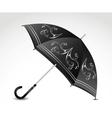 Ornamental black umbrella vector image
