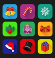 Holiday icons set vector image vector image
