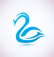 swan symbol beauty concept icon vector image