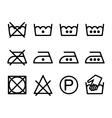 Set of instruction laundry icons washing symbols vector image