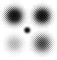 halftone elements vector image