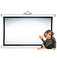 Monkey and screen vector image vector image