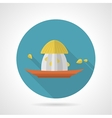 Flat color icon for plastic juicer vector image