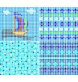 sea ornaments vector image