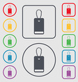 army chains icon sign Symbols on the Round and vector image