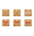 collection of cardboard boxes vector image vector image