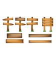 wood design elements vector image