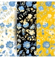 Set of summer doodle seamless patterns vector image