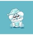 isolated Emoji character cartoon sleepy White vector image