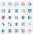 Colorful bio-tech icons vector image