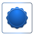 Seal award blue icon vector image