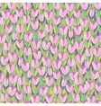 Seamless background with tulips vector image