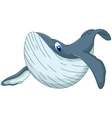 cute whale cartoon for you design vector image vector image