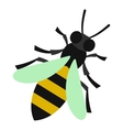 Bee icon flat style vector image
