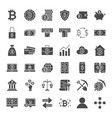 bitcoin solid web icons vector image