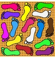 Colored footprints vector image