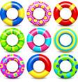 Colorful swim rings set vector image