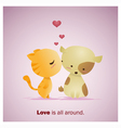 Cute Animals Collection Love is all around 1 vector image