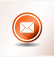 email icon in flat design vector image