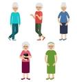 Grandmothers Elderly women vector image