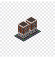 isolated home isometric house element can vector image