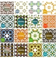 Set of abstract seamless textures Geometric vector image