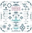 set of calligraphic vintage design elements vector image