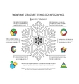Snowflake structure infographics vector image