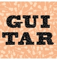 Guitar Silhouettes Seamless Pattern vector image