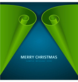Christmas tree from scroll paper background vector image vector image