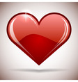 Glossy red heart icon vector image