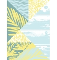 Abstract summer composition with hand drawn vector image