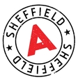 Sheffield stamp rubber grunge vector image