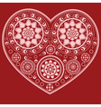 Ornamental heart vector image vector image