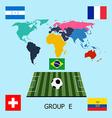 Group E - Switzerland Ecuador France Honduras vector image