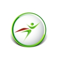 Super hero business man flying logo vector image