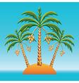 tropical landscape vector image vector image