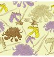 Vintage Flowers Card vector image