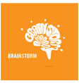 Brain Icon Logo Brainstorm Icon Logo vector image