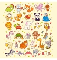Cute set of animals vector image